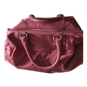 Coach Ashley Ginger Beet (pink) Satchel Rare Color